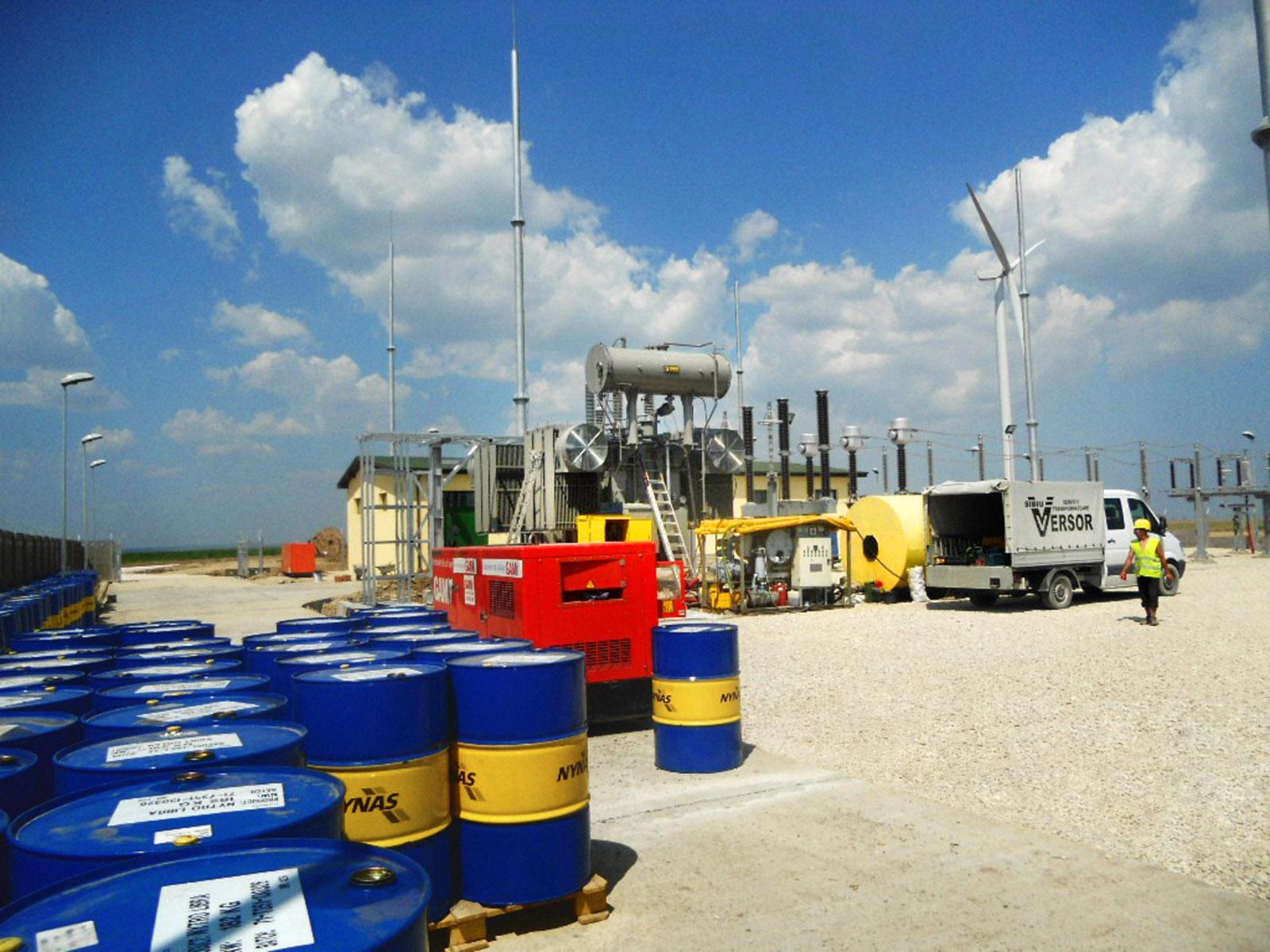 Versor Servicii Transformatoare manipulare ulei, reconditionare, montare