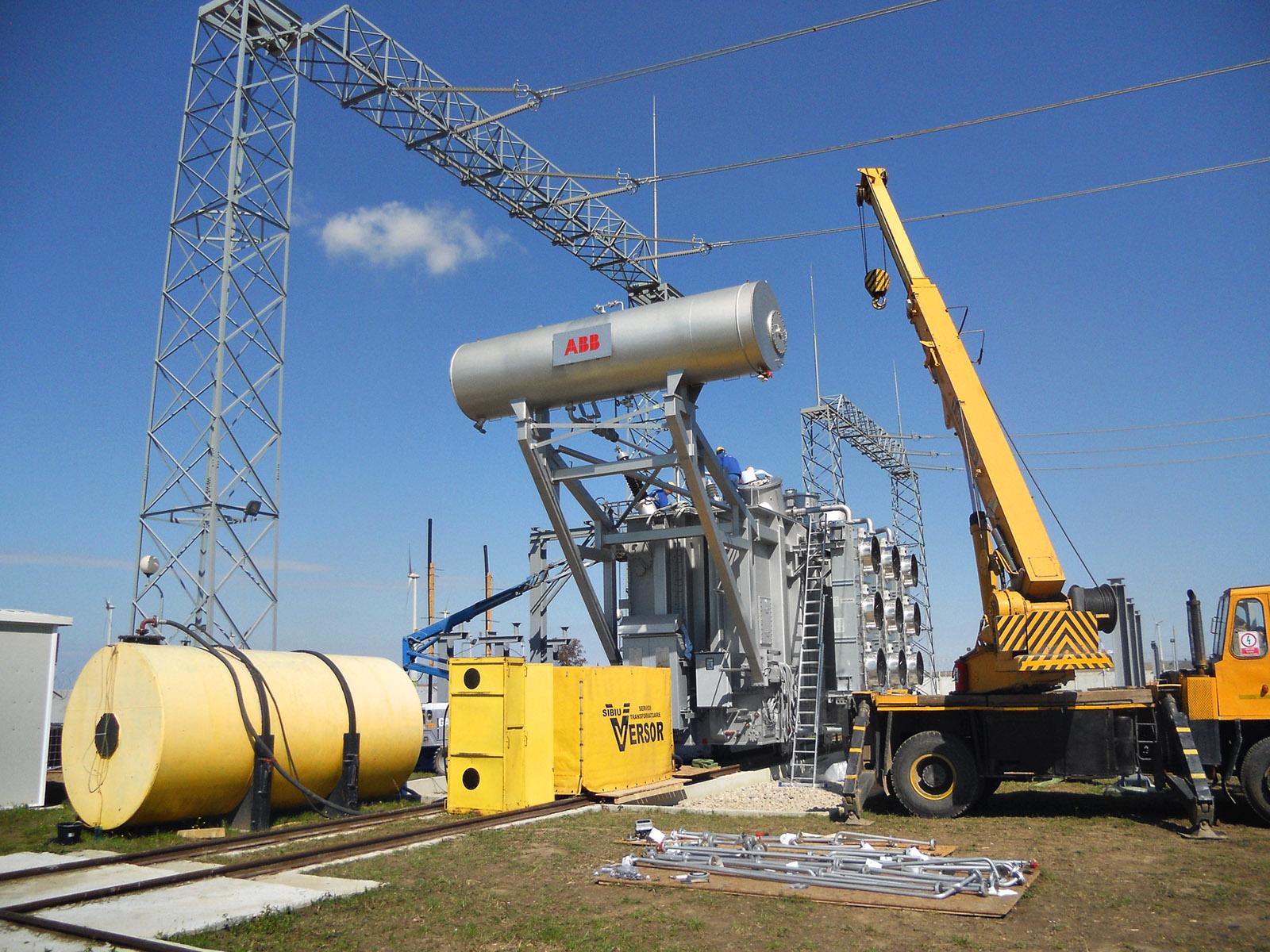 Versor Servicii Transformatoare tratare ulei, montare, statie eoliana